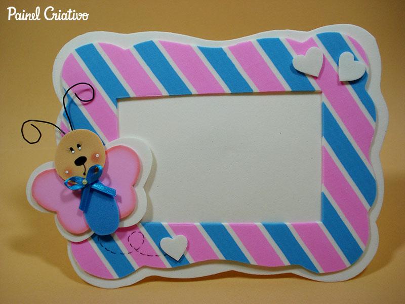 modelo porta retrato borboletinha EVA decoracao quarto menina artesanato painel criativo (3)