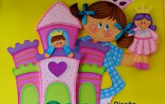 molde painel castelo princesa EVA festa aniversario sala de aula quarto meninas eva 7 (1)