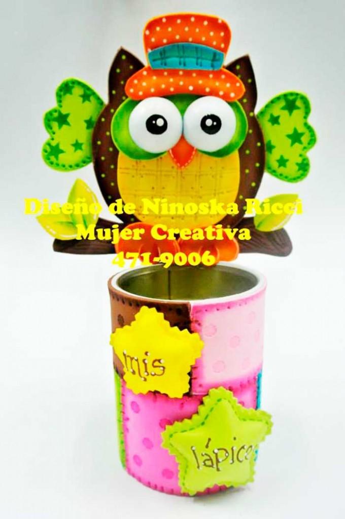 molde porta lapis corujinha lembracinha EVA aniversario infantil dia das criancas artesanato 1
