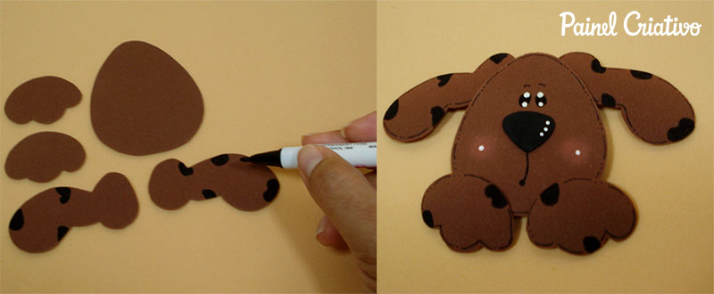 passo a passo bloquinho recados cachorrinho EVA lembrancinha escola artesanato painel criativo 1