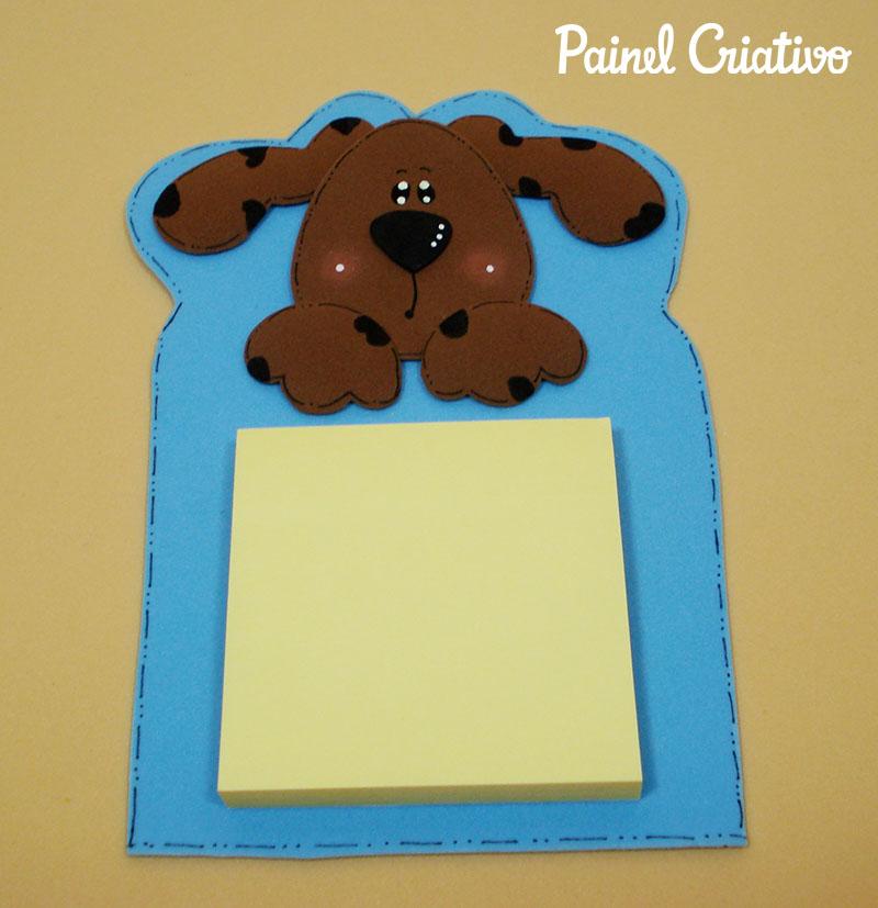 passo a passo bloquinho recados cachorrinho EVA lembrancinha escola artesanato painel criativo 2