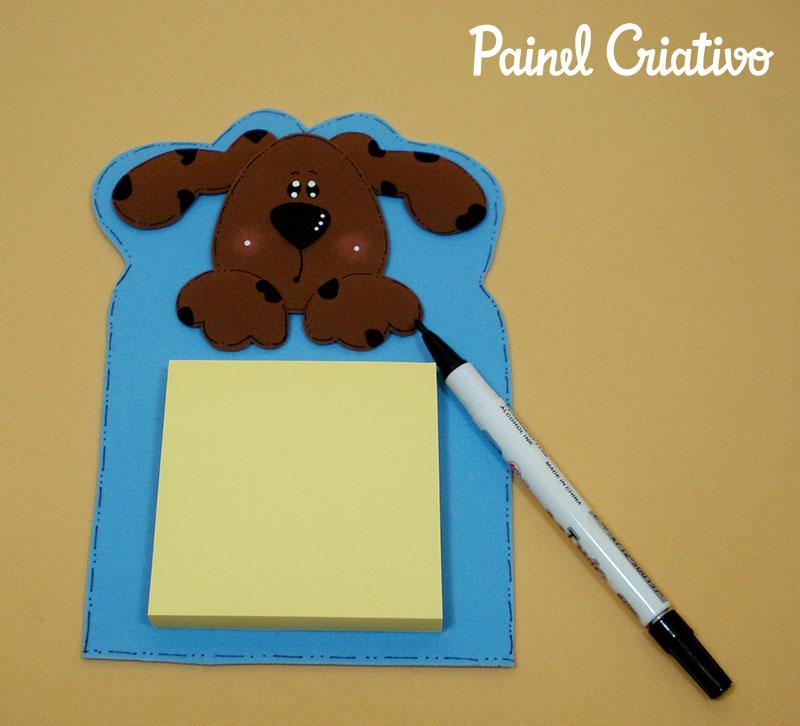 passo a passo bloquinho recados cachorrinho EVA lembrancinha escola artesanato painel criativo 3