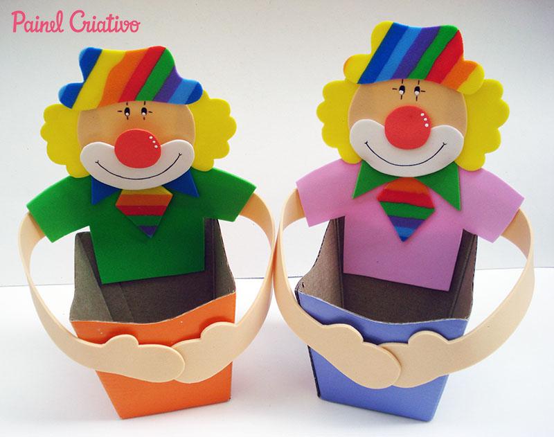 passo a passo lembrancinha dia das criancas palhacinho eva porta guloseimas escola artesanato painel criativo 2