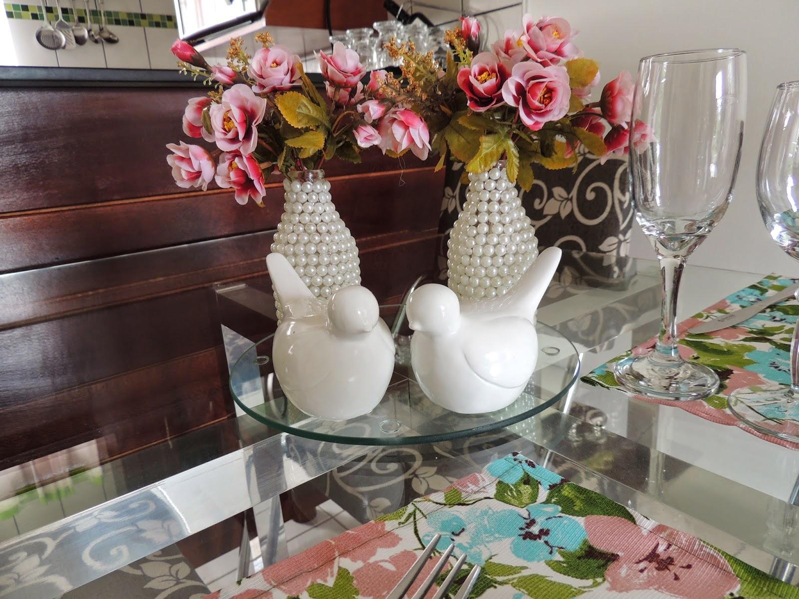 passo a passo reciclagem garrafinha vidro decorada meia perola decoracao casa artesanato pratico