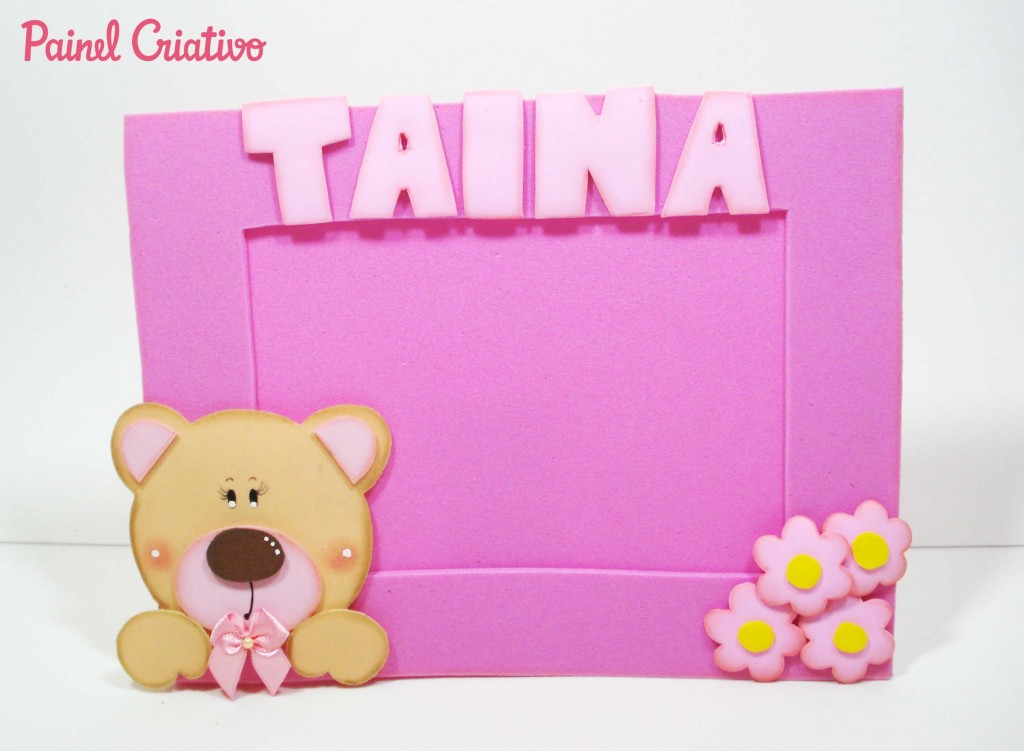 porta retrato ursinha decoracao quarto menina lembrancinha aniversario artesanato painel criativo 4