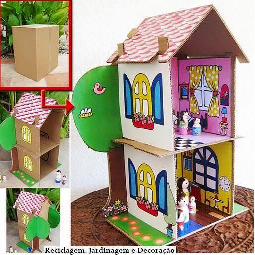 ideias criativas brinquedo reciclado caixa papelao atividadade criancas ferias reciclagem (5)