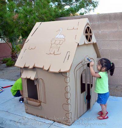 ideias criativas brinquedo reciclado caixa papelao atividadade criancas ferias reciclagem (7)