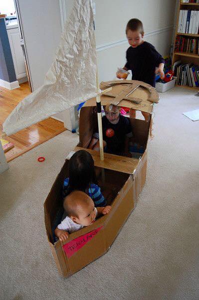 ideias criativas brinquedo reciclado caixa papelao atividadade criancas ferias reciclagem (8)