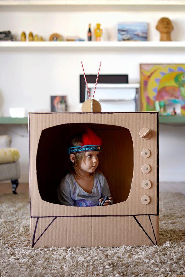 ideias criativas brinquedo reciclado caixa papelao atividadade criancas ferias reciclagem (9)