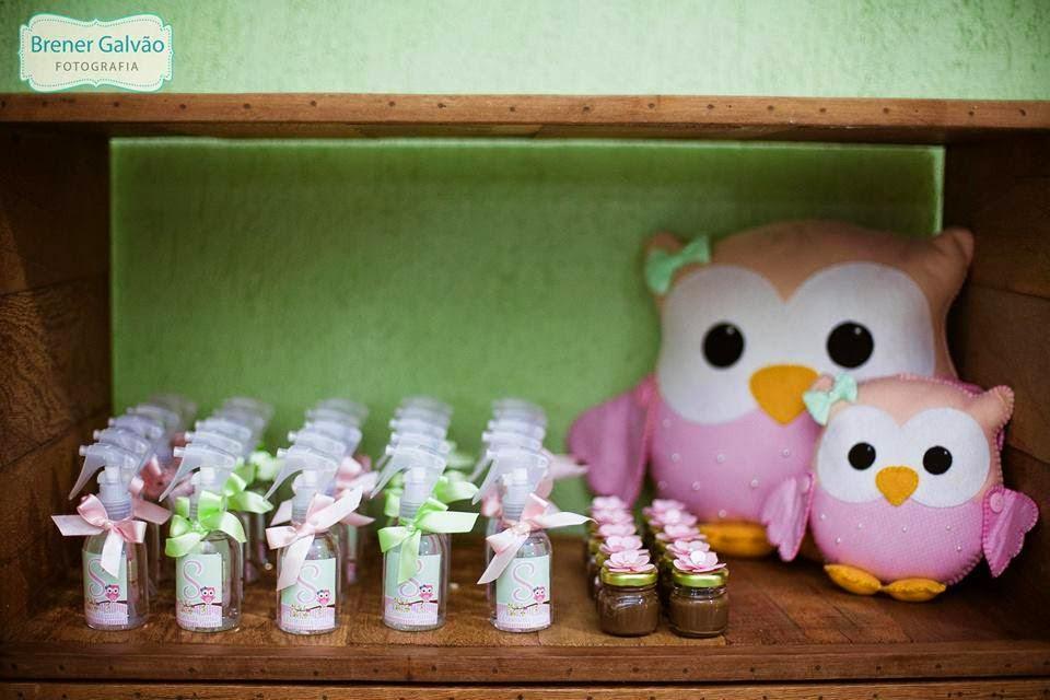 ideias criativas festa aniversario cha de bebe corujinha meninas docinhos lembrancinhas personalizados 12
