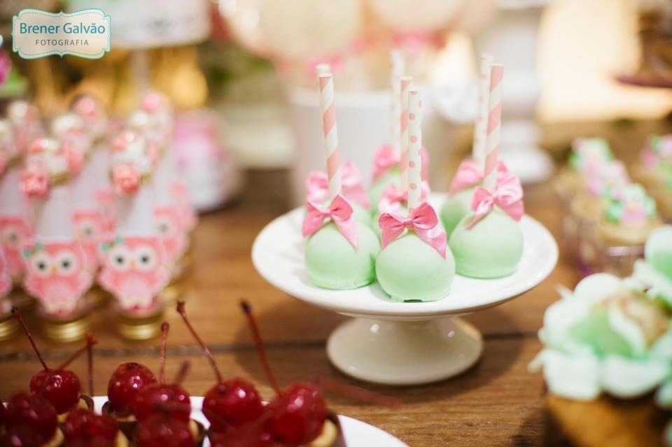 ideias criativas festa aniversario cha de bebe corujinha meninas docinhos lembrancinhas personalizados 13