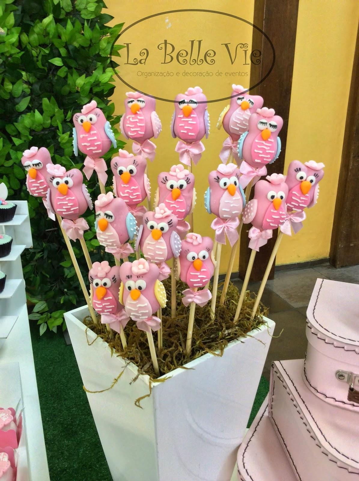 ideias criativas festa aniversario cha de bebe corujinha meninas docinhos lembrancinhas personalizados 15
