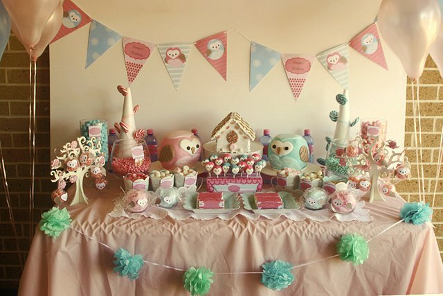 ideias criativas festa aniversario cha de bebe corujinha meninas docinhos lembrancinhas personalizados 4