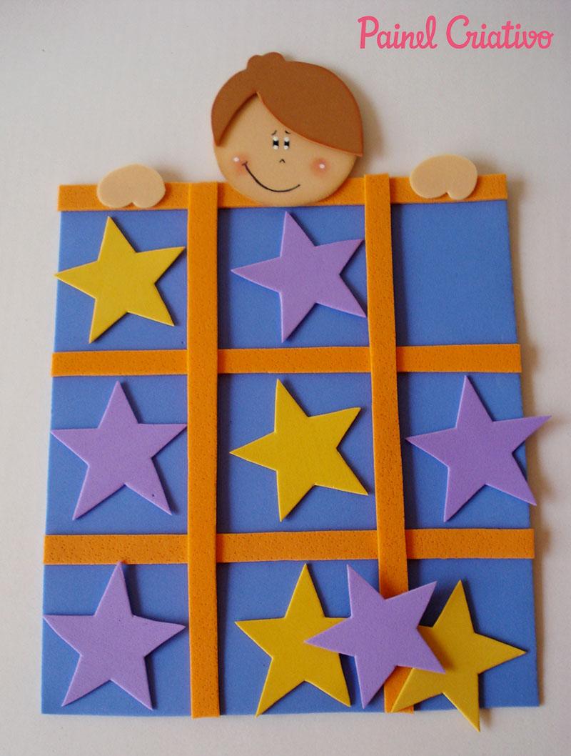 lembrancinha dia das criancas jogo da velha EVA menininho menininha brincadeira escola artesanato painel criativo 3