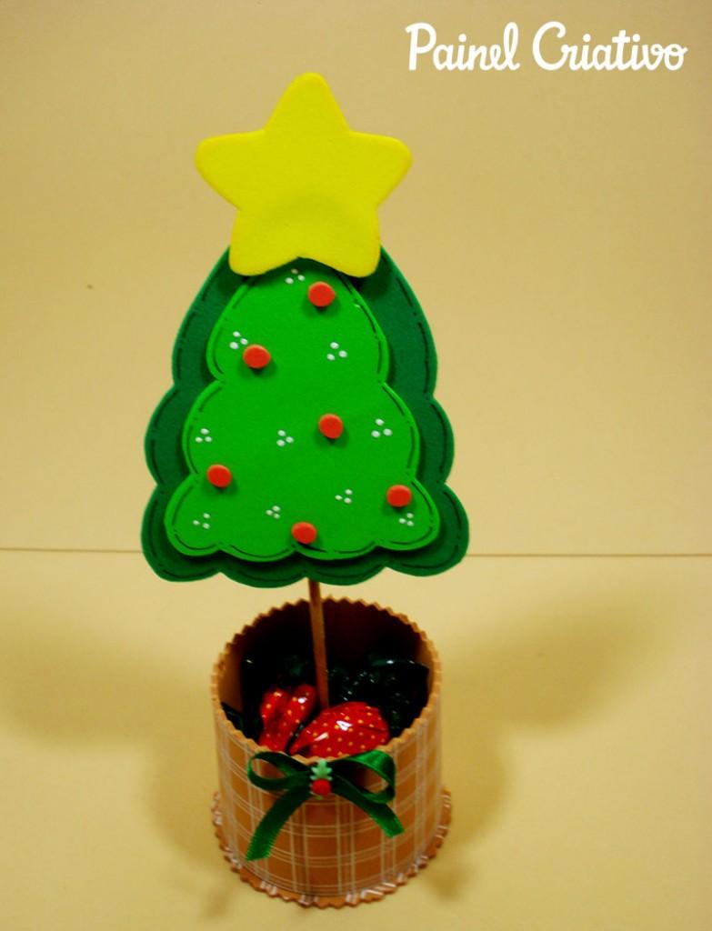 como fazer lembrancinha natal EVA mini arvore natal porta guloseimas criancas artesanato  1