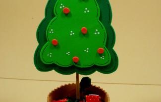 como fazer lembrancinha natal EVA mini arvore natal porta guloseimas criancas artesanato  2