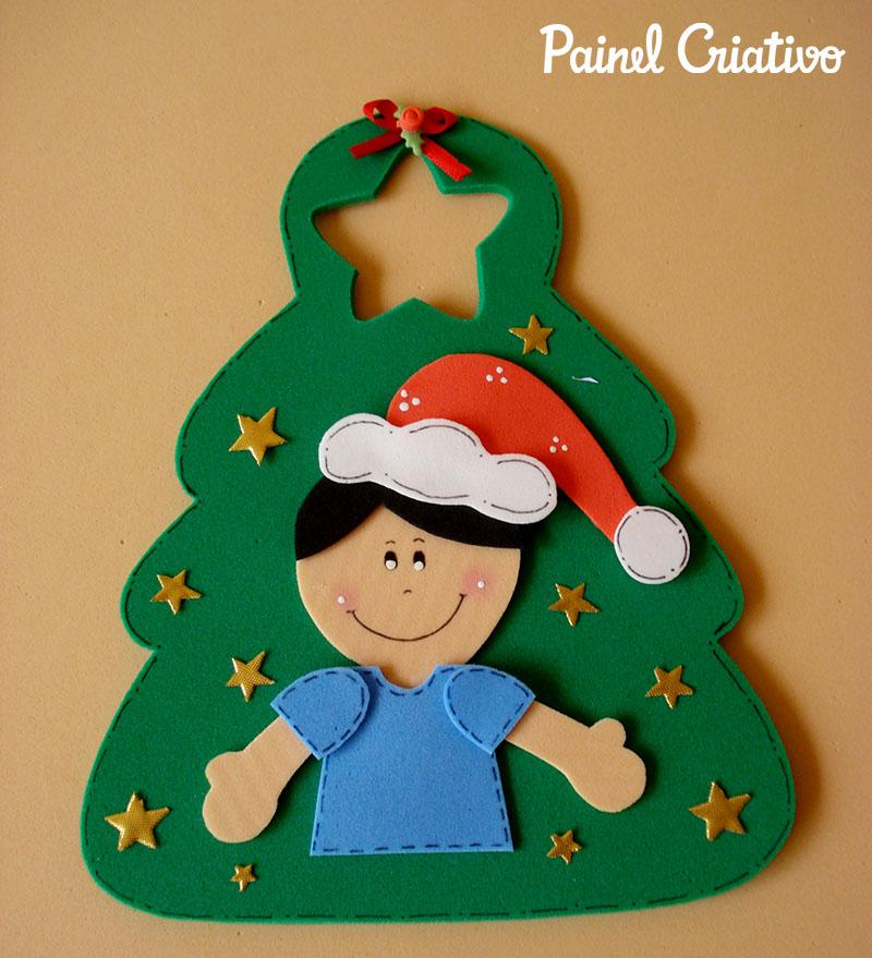 como fazer lembrancinha sacolinha arvore natal porta guloseimas menina menino EVA artesanato painel criativo 4