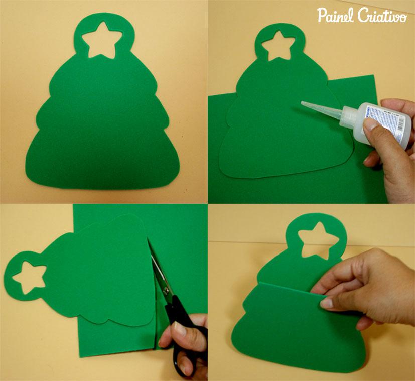 como fazer lembrancinha sacolinha arvore natal porta guloseimas menina menino EVA artesanato painel criativo 6