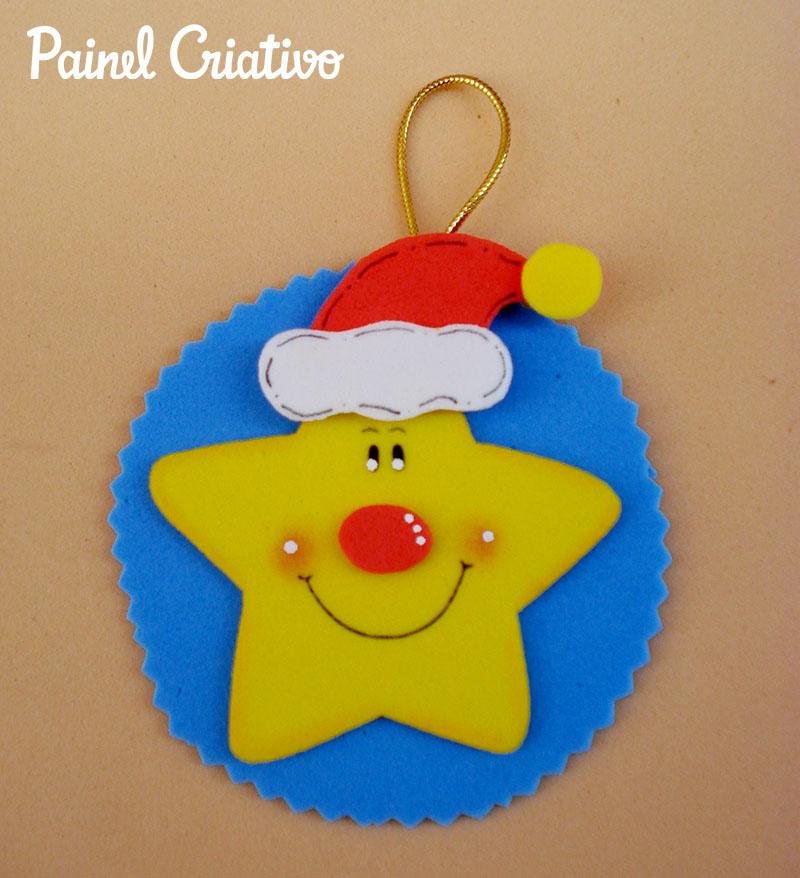 A Arte de Educar Enfeites Natalinos em EVA -> Decoração Em Eva Natal