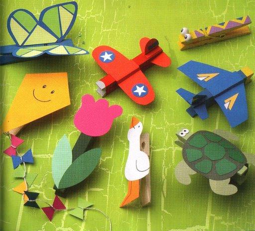 artesanatos pregadores de roupa brinquedos bichinhos criancas 4