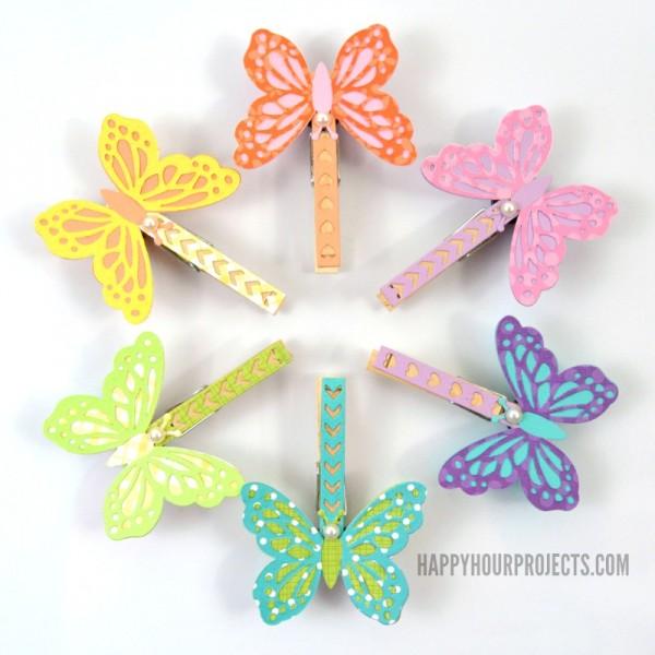 artesanatos pregadores de roupa brinquedos bichinhos criancas borboletas 3