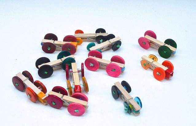 artesanatos pregadores de roupa brinquedos bichinhos criancas carrinhos 6