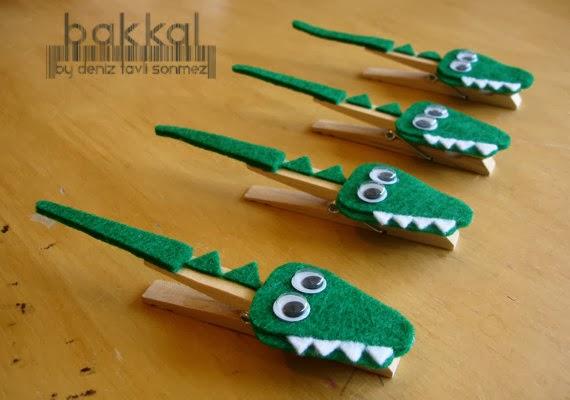 artesanatos pregadores de roupa brinquedos bichinhos criancas jacare 1