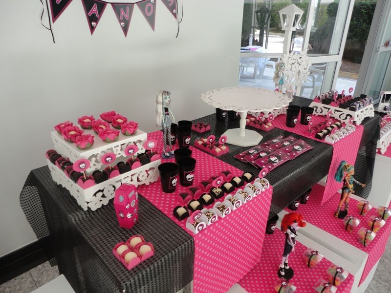 ideias decoracao festa aniversario monster high meninas monstrinhos girl 10