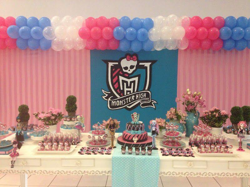 ideias decoracao festa aniversario monster high meninas monstrinhos girl 13