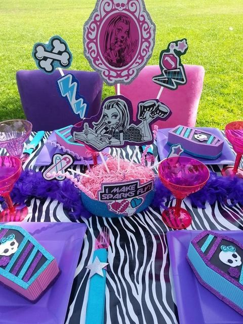 ideias decoracao festa aniversario monster high meninas monstrinhos girl 3