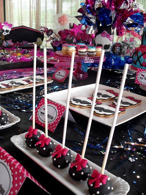 ideias decoracao festa aniversario monster high meninas monstrinhos girl 4