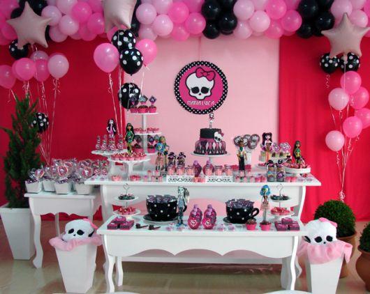 ideias decoracao festa aniversario monster high meninas monstrinhos girl 6