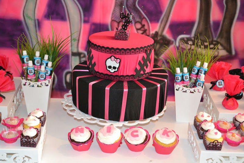 ideias decoracao festa aniversario monster high meninas monstrinhos girl 7