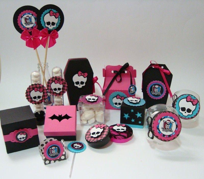 ideias decoracao festa aniversario monster high meninas monstrinhos girl 8
