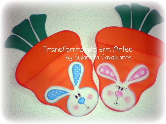 lembrancinha pascoa sacolinha cenoura porta guloseimas criancas eva 1