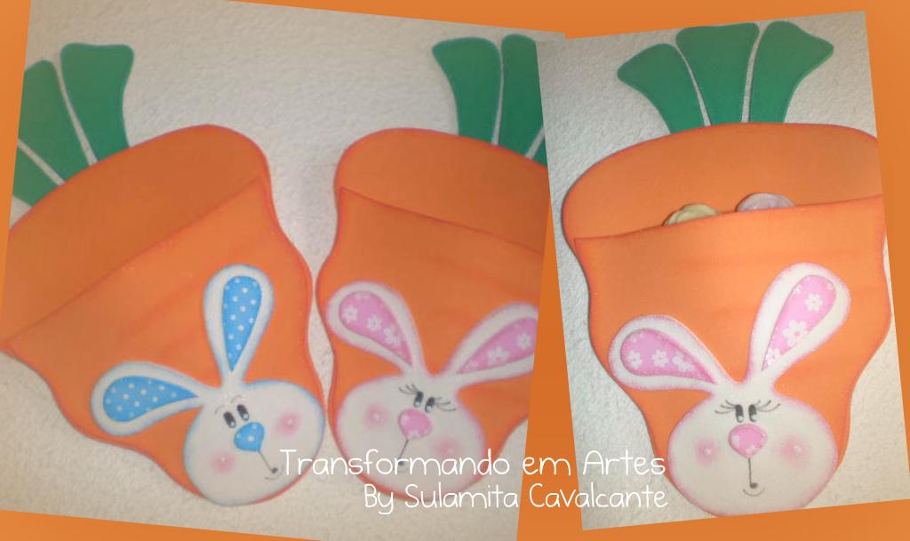 lembrancinha pascoa sacolinha cenoura porta guloseimas criancas eva 3