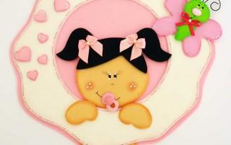 passo a passo enfeite porta maternidade decoracao quarto menina bebe eva 1
