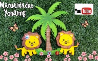 passo a passo leaozinho de eva festa safari painel lembrancinha  aniversarios criancas 2