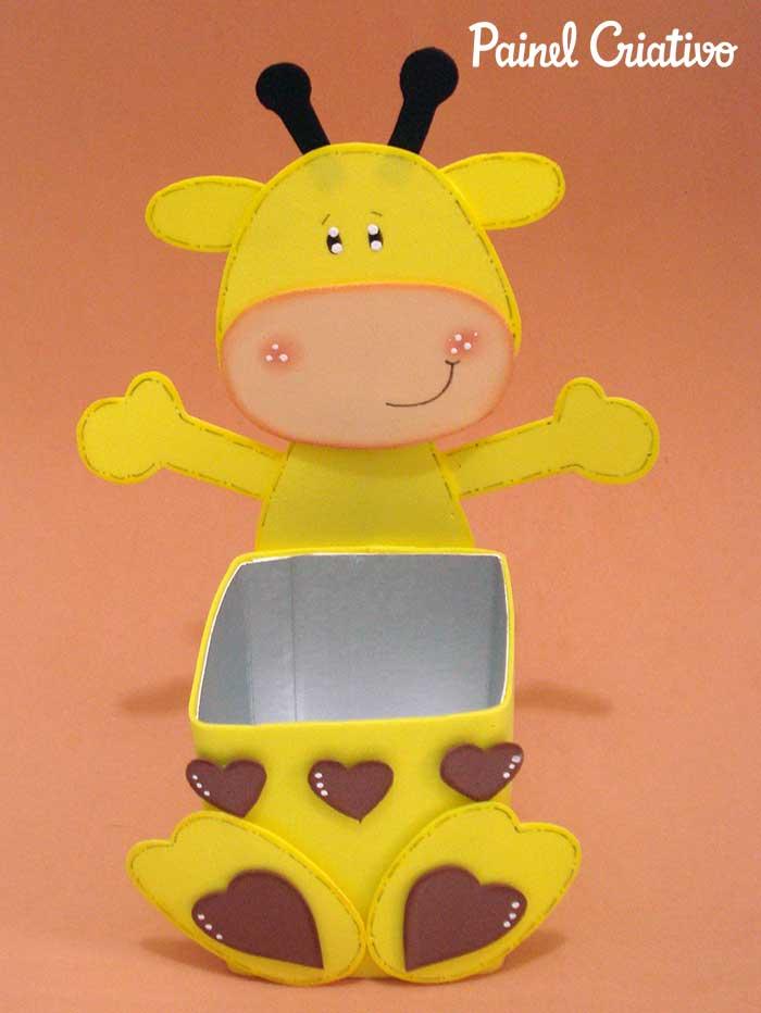 passo a passo lembrancinha girafinha caixa de leite eva aniversario dia das criancas volta as aulas escola 1