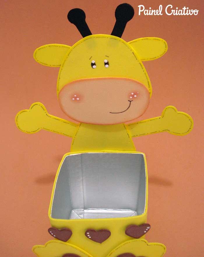 passo a passo lembrancinha girafinha caixa de leite eva aniversario dia das criancas volta as aulas escola 3