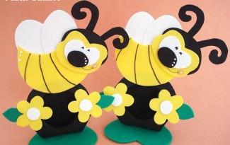 passo a passo lembrancinha porta bombom abelhinha eva festinha aniversario jardim encantado  2