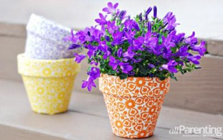 passo a passo vaso de flores decorado forrado com tecido 1