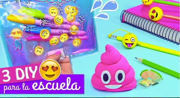 video passo a passo decoracao material escolar emoji volta as aulas lapis apontador decorado