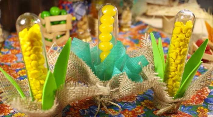 como fazer lembrancinha tubetes festa junina caipira decoracao mesa doces 1