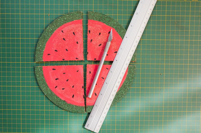 como fazer porta copos formato melancia decoracao casa caozinha cortica 2