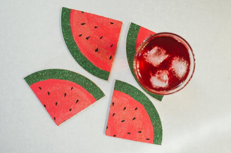como fazer porta copos formato melancia decoracao casa caozinha cortica 5