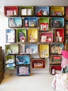 ideias reciclagem caixote estantes decoracao casa sala cozinha 3