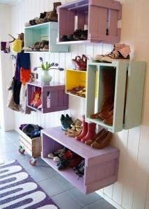 ideias reciclagem caixote estantes decoracao casa sala cozinha 4