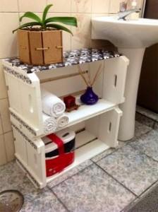 ideias reciclagem caixote estantes decoracao casa sala cozinha 8