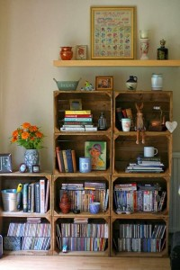 ideias reciclagem caixote estantes decoracao casa sala cozinha 9